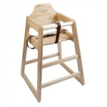 Genware Wooden High Chair Light Wood