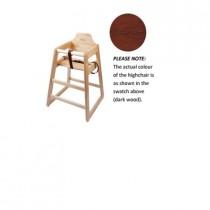 Genware Wooden High Chair Dark Wood