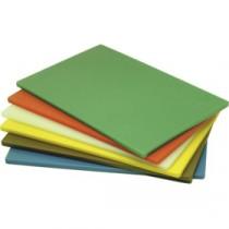 Genware Yellow Low Density Chopping Board 450x300x12.5mm