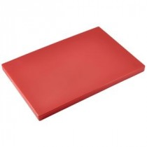 Genware Red Chopping Board 450x300x25mm