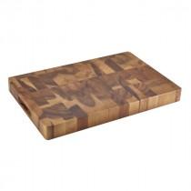 "Genware Acacia Wood End Grain Chopping Board 455x305x45mm-18x12x1.75"""