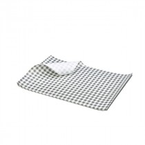 Berties Greaseproof Paper Gingham Black 25x20cm