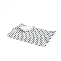 Berties Greaseproof Paper Gingham Black 25x20cm