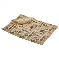 Genware Greaseproof Paper Brown Steakhouse Print 25x35cm (10