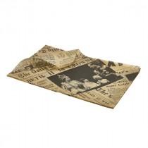 Genware Greaseproof Paper Brown Printed 25x35cm (1000 sheets