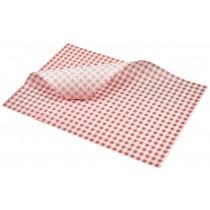 Berties Greaseproof Paper Gingham Red 35x25cm