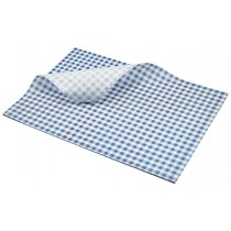 Berties Greaseproof Paper Gingham Blue 35x25cm