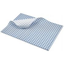 Berties Greaseproof Paper Gingham Blue 35x25cm