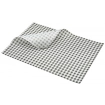 Berties Greaseproof Paper Gingham Black 35x25cm