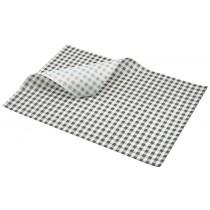 Berties Greaseproof Paper Gingham Black 35x25cm