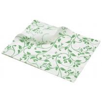 Berties Greaseproof Paper Floral Green 25x20cm