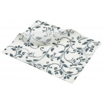 Berties Greaseproof Paper Floral Grey 25x20cm