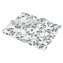 Berties Greaseproof Paper Floral Grey 25x20cm