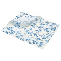 Berties Greaseproof Paper Floral Blue 25x20cm