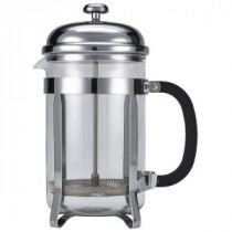 Genware Pyrex Chrome Finish Cafetiere 12 Cup