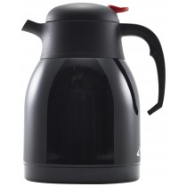 Genware Push Button Vacuum Jug Black 1.5L