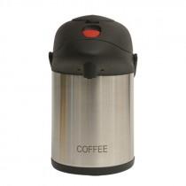 Genware Inscribed Pump Pot Vacuum Jug 2.5L Coffee