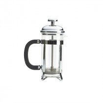 Genware Pyrex Chrome Finish 3-Cup Superior Cafetiere