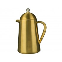 {La Cafetiere Brushed Gold Thermique Double Walled Cafetiere}