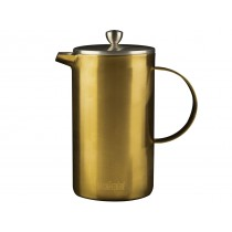 {La Cafetiere Brushed Gold Double Walled Cafetiere 1000ml}