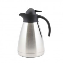 Genware Stainless Steel Contemporary Vacuum Jug 1.0L