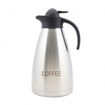 Genware Coffee Inscribed Contemporary Vacuum Jug 2.0L