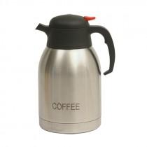 Genware Inscribed Push Button Vacuum Jug 2L Coffee