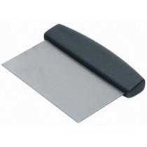 Genware Black Handle Dough Scraper 150x75mm