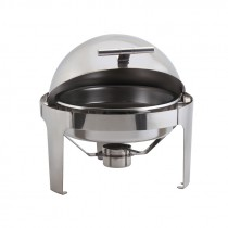 Genware Stainless Steel Roll Top Deluxe Round Chafing Dish 8.5L