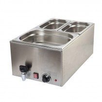 Genware Bain Marie GN 1/1 with Tap 1.2Kw