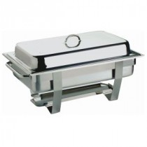 Genware Stainless Steel Value Chafing Dish Single