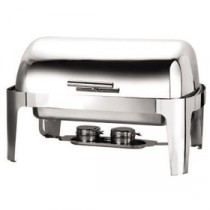Genware Stainless Steel Roll Top Deluxe Chafing Dish 6L