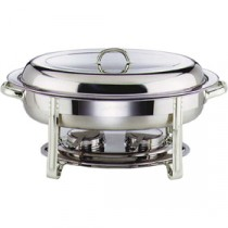 Genware Stainless Steel Oval Chafing Dish 5L