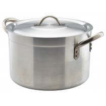 Genware Aluminium Medium Duty Stewpan and Lid 32cm, 20.5L