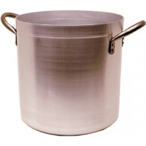 Genware Aluminium Deep Stockpot and Lid 28cm, 17L