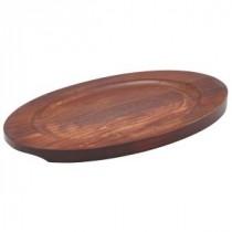 "Genware Spare Wood Trivet for 9.5"" Sizzle Platter"