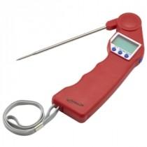 Genware Folding Probe Pocket Thermometer Red -50 to +300 deg C