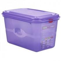 Genware Polycarbonate Allergen Container Purple GN 1/4 150mm Deep 4.3L