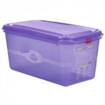 Genware Polycarbonate Allergen Container Purple GN 1/3 150mm Deep 6L