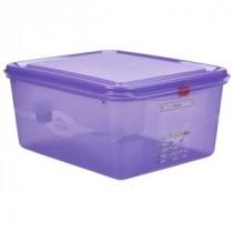 Genware Polycarbonate Allergen Container Purple GN 1/2 150mm Deep 10L