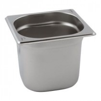 Genware Stainless Steel Gastronorm 1-6 65mm Deep