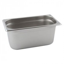 Genware Stainless Steel Gastronorm 1-3 40mm Deep
