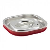 Genware Stainless Steel Gastronorm Sealing Pan Lid 1/6