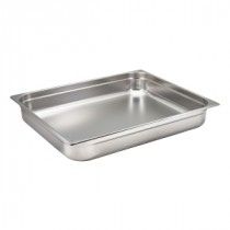 Genware Stainless Steel Gastronorm 2-1 100mm Deep