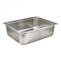 Genware Stainless Steel Gastronorm 2-1 200mm Deep