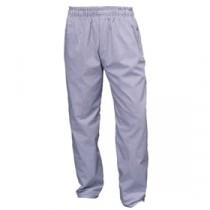 """Genware Chef Baggies Small Check Trousers Blue Check XXL 46""""-48"""" Waist"""