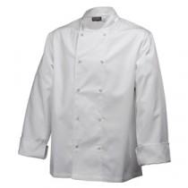 """Genware Basic Stud Chef Jacket Long Sleeve White M 40""""-42"""""""
