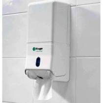 Berties Bulk Pack Toilet Tissue Dispenser White