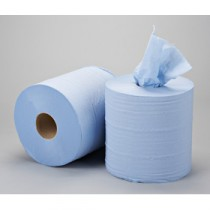 Berties Embossed Centrefeed Rolls 2 ply Blue