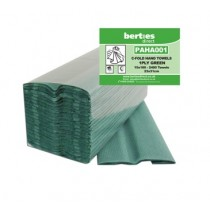 Berties C-Fold Standard Hand Towels 1 ply Green